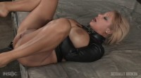 Big Breasted Alyssa Lynn Takes On Two Cocks Bound In A Leather Straightjacket (2016)