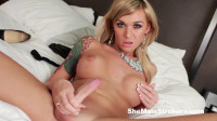 Aubrey Kate – Sexy, Blonde Trans Girl Wants To Cover You With Hot Juice
