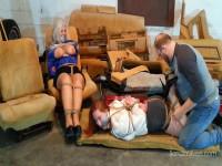 Hogtied Amazon Redhead Joins Captive Curvy MOTHER ID LIKE TO FUCK Secretary