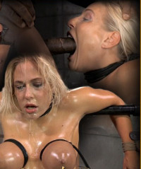 Epic Deepthroat Done By Busty Blonde, Strictly Bound And Facefucked By 2 Cocks