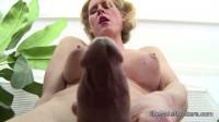 TS Delia DeLions Leggy Blonde Tranny Cums On Her Tummy