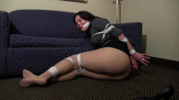 Audrey-Audrey Gagged Tight And Stashed Away