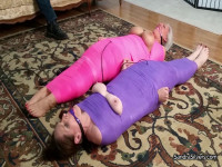 MILFs Completely Mummified, Hooded-Receive Intense  Orgasms