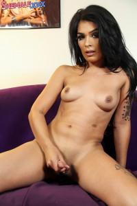 Sexy Aubrey Starr Strokes Her Cock