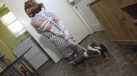 Tranniesintrouble – Sandra Stuck In The Kitchen, Panel Gagged, Blindfolded