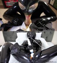 Super Bondage, Domination And Predicament For Hot Girl In Latex