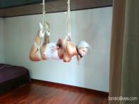 Suspended Open-Legged Hogtie And Forced Orgasm Torment