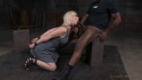 Bdsm HD Porn Videos Blonde Chained Down And Trained By BBC, Rough Fucking