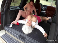 Sandra Silvers & Lisa Harlotte – Taken, Gagged, And Spread-Eagled In Truck