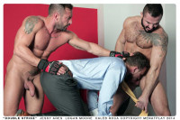 Men At Play – Double Strike – Logan Moore, Caleb Roca And Jessy Ares