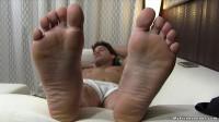 Spy On Aldo's Sweaty Naked Feet