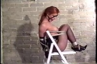 She Struggles To Loosen The Rope But To No Avail