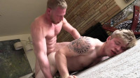 Large Ramrod Lengthy Hair Guy Randy Reno Copulates Muscle Tatted Cock Travis Youth