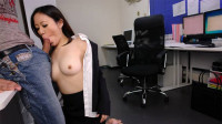 Ritsuko Tachibana Sucks Penis At Her 1st Office Day