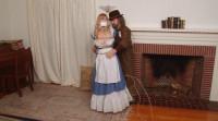 Blue Damsel In The Fireplace – Lorelei And Jon Woods