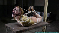 Huge Gags Drool And A Reverse Prayer Hogtie For Moxie