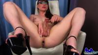 Sexy Natalie Mars' Red Dildo