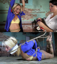 Super Bondage, Torment, Strappado And Hogtie For Sexy Young Bitch
