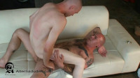 Hairy Tatted Boxer Dominates Femme Twink Bottom
