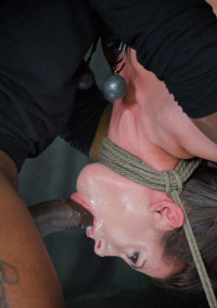 Casey Calvert Hung Upside Down, Skullfucked Into Oblivion By 2 Cocks