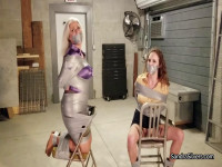 Sandra & Lauren Kiley, Duct Taped Damsels Turns To Breast Worship