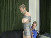 Hogtied Damsel Tape Mummy