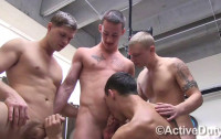 Amazing Young Soldiers In Hot Mini Orgy