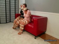 Burgled Buxom MOTHER ID LIKE TO FUCK Roommates, Massively Bound & Gagged, Attempt Escape
