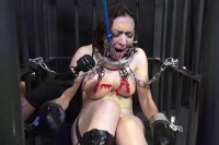 Mistress Miranda Dixon Suspended Cage Part 2