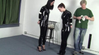 Belle Davis & Serene Isley – Catsuited Duo Standing Bind