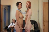 Sit Down And Watch Naked And Collared Petgirl Eating Her Breakfast