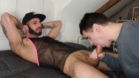 Submissive Slut Worships Huge Cock Romeo Davis, David Valentin