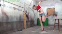 HunterSlair – Lexi Lane – Breast Bound Flamingo Strappado