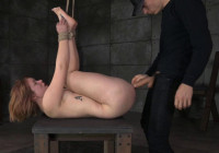 Pale Redhead Claire Robbins Strictly Restrained And Roughly Fucked, Brutal Messy Deepthroat