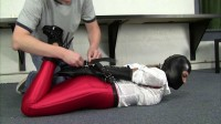 Carissa Montgomery Red Disco Jeans Tight Leather Gear And Gwen Hood And A Nice Hogtie X (2015)