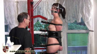 Tight Restraint Bondage, Spanking And Torment For Undressed Brunette Hair HD 1080p