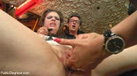 Disgusting Piss Guzzling Slut Paraded Through Budapest