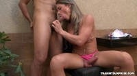Guy Tongue Fucks Her Hot Tranny Ass
