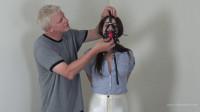 Arielle Lane – White Disco Jeans And Tight Jute Bondage