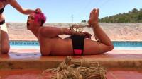 Hogtied By The Pool Side – Nova Pink – HD 720p