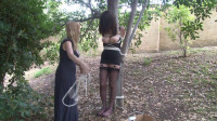 Tied To A Tree In Lingerie – Behind The Scenes With Ashley Renee