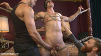 Greedy For Edging – Tall Hunk Logan Stone Shoots A Load In His Own Face