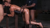 Wenona – Toned Tattooed MILF Bent Over In Bondage And Used Hard From Both Ends (2015)