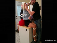 Bound Back To Back, MOTHER ID LIKE TO FUCK Secretaries Gagged And Vet Wrap Hooded