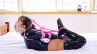 RestrictedSenses Part Rs-313 – Slick Black Bodysuit Tight Hogtie 1080p
