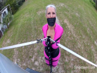 Extreme Bondage Orgasm As Sandra Is Bound To, Not In, A Van And Taken For A Ride