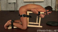 Sergei – Held In A Stress Position With A Metallic Anal Hook
