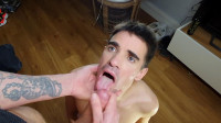 Submissive Slut Worships Huge Cock – Romeo Davis, David Valentin