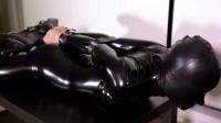 Black Catsuit + Hood & Belts