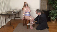 Bdsm HD Porn Videos Rope And Tape Chair Bondage For Lorelei